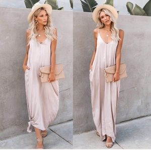 Dresses & Skirts - Boho maxi cami loose tank dress